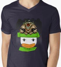 King Koopa's Clown Car Mens V-Neck T-Shirt