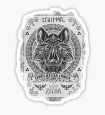 Legend of Zelda Twilight Princess Wolf Link Line Artly  Sticker
