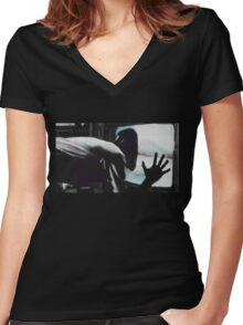 VideoDrome - Test Women's Fitted V-Neck T-Shirt