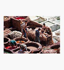 Morocco. Fes. Fes el Bali. Workmen of the Tanneries. Photographic Print