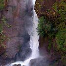 Crashing Waterfall into Marsyangdi River by SerenaB
