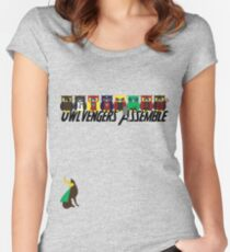 Owlvengers Assemble Women's Fitted Scoop T-Shirt