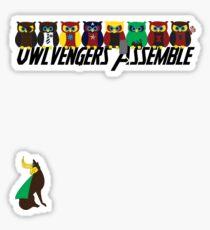 Owlvengers Assemble Sticker