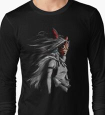 Mononoke Wolf Anime Tra Digital Painting Long Sleeve T-Shirt