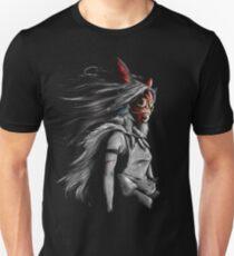Mononoke Wolf Anime Tra Peinture Numérique T-shirt unisexe