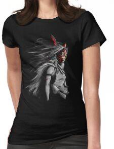 Mononoke Wolf Anime Tra Digital Painting Womens Fitted T-Shirt