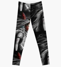 Mononoke Wolf Anime Tra Digital Painting Leggings