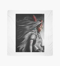 Mononoke Wolf Anime Tra Digital Painting Scarf