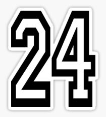 24, TEAM, SPORTS, NUMBER 24, TWENTY, FOUR, Competition,  Sticker