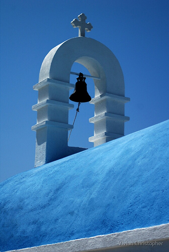 The Bell Tower in Mykonos by Vivian Christopher