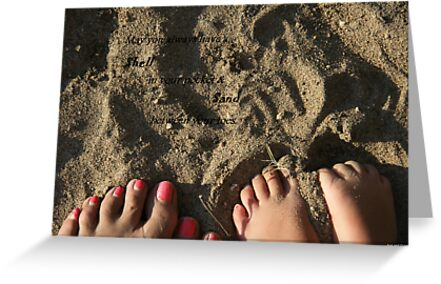 Shell,Sand and Toes by gypsykatz