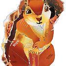 Red Squirrel by Ruud van Koningsbrugge