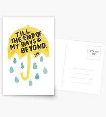 "HIMYM: ""Till the end"" Postcards"