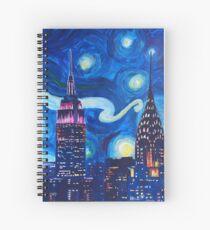 Cuaderno de espiral Starry Night in New York - Van Gogh inspired