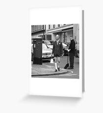 Savile Row chic Greeting Card