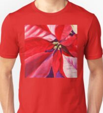 Christmas Red Poinsettia  T-Shirt