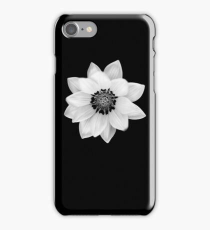 Black and White Gazania Diptych iPhone Case/Skin