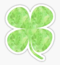 St. Patrick's Day Watercolor Clover Sticker