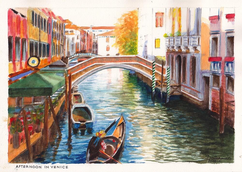 Afternoon in Venice by Dai Wynn
