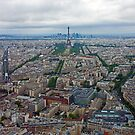 Paris Skyline with Eiffel Tower - France by Buckwhite