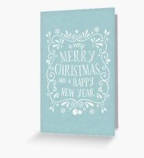 A Very Merry Christmas Greeting Card