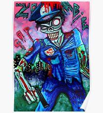 Zombie Cop (Horror Comics, Zombies) Poster