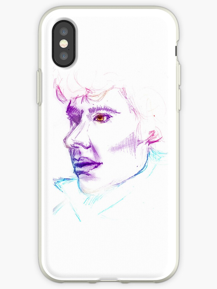 Sherlock Drawing Phone Cover by KitsuneDesigns