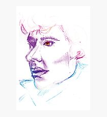 Sherlock Drawing Photographic Print
