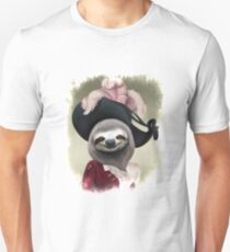 Aristocratic Lady Sloth Oil Painting Style Portrait T-Shirt