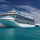 Cruise Ships moored at Dockyard by John Gaffen