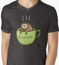 Sloffee Men's V-Neck T-Shirt