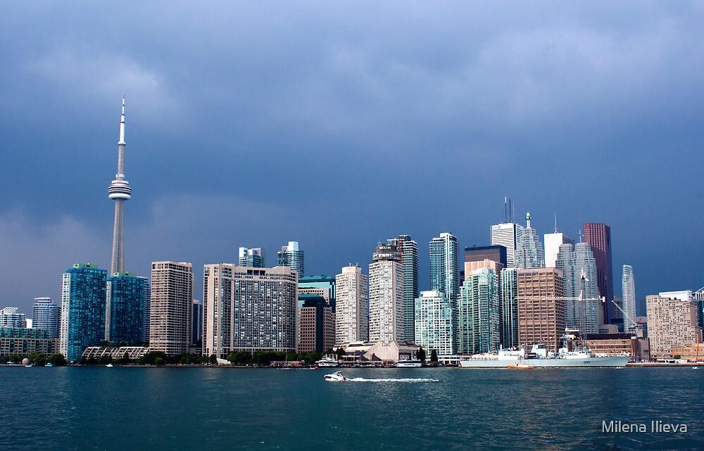 Toronto before storm by Milena Ilieva