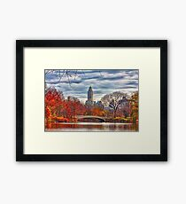 Bow Bridge, Central Park, New York on an Autumn day Framed Print