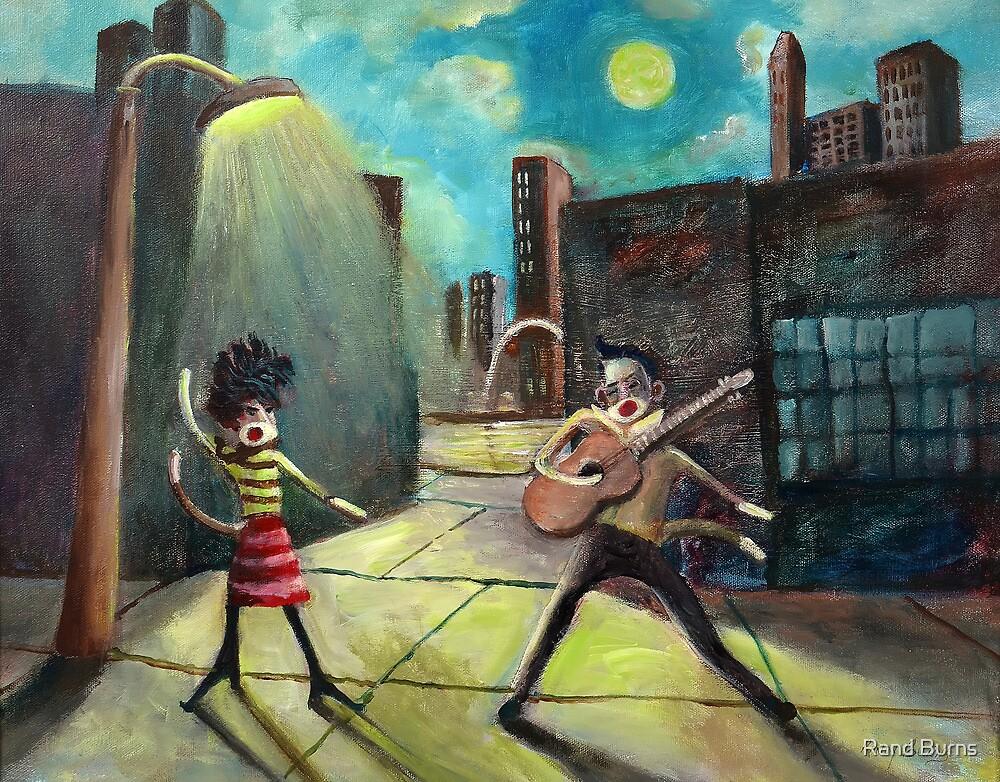When Elvis and Phyllis Diller Meet In St. Louis On A Moonlit Night As Sock Monkeys by Randy Burns