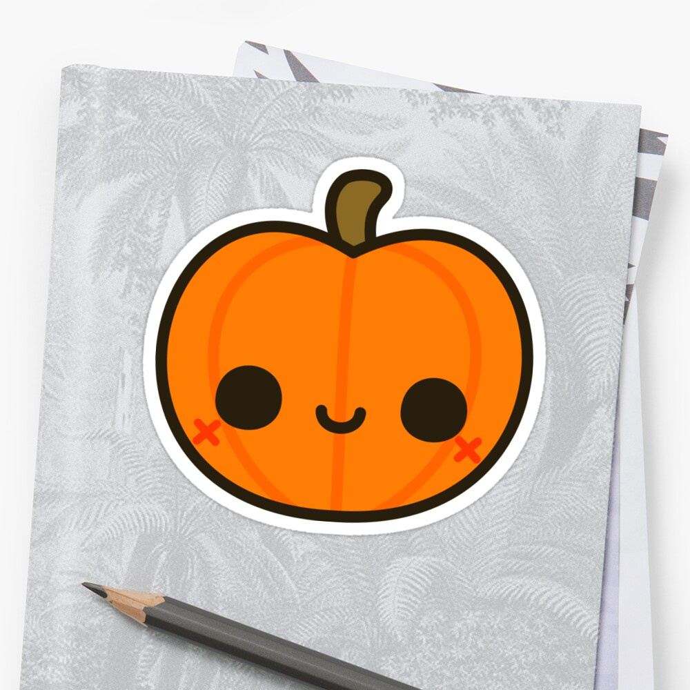 Quot Cute Jack O Lantern Quot Sticker By Peppermintpopuk Redbubble