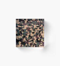 Woodland Camouflage Acrylic Block