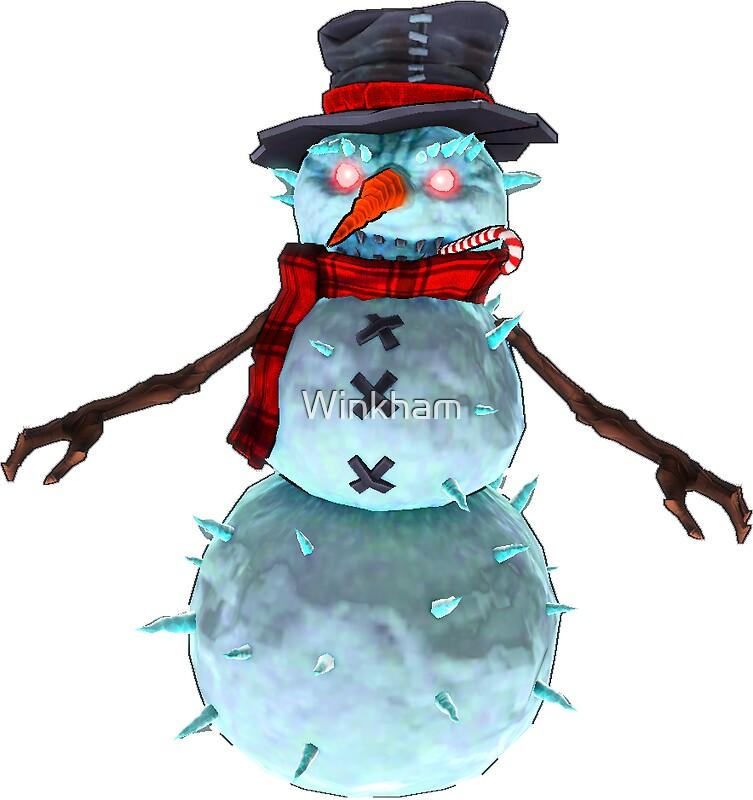 Quot Evil Snowman Quot Stickers By Winkham Redbubble
