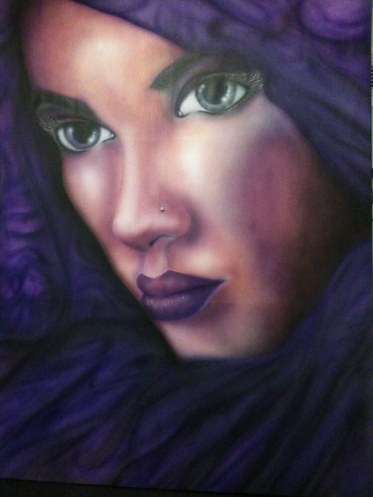 purple princess 52 inch canvas, sublime background by paniksta