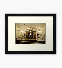 Interior of the synagogue the Torah ark in the centre Framed Print