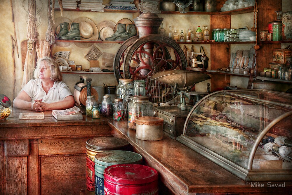 Americana - Store - Looking after the shop  by Michael Savad