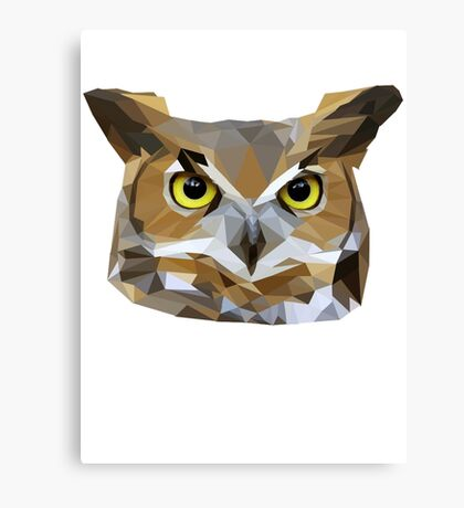 Low Poly Owl Canvas Print