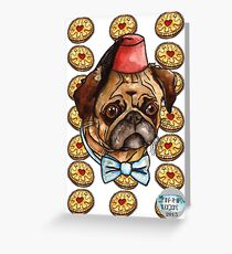 Pug & biscuits Greeting Card