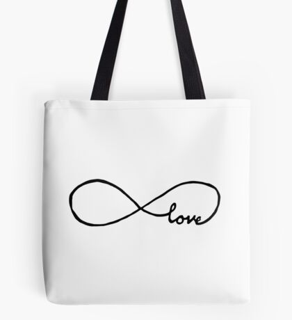 Pretty Infinity sign love Tote Bag