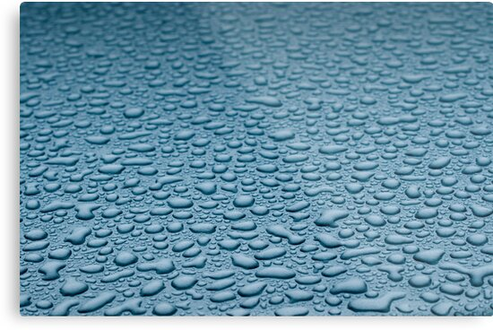drops of water on the metal surface by Anton Oparin