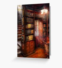 Steampunk - The semi-private study  Greeting Card