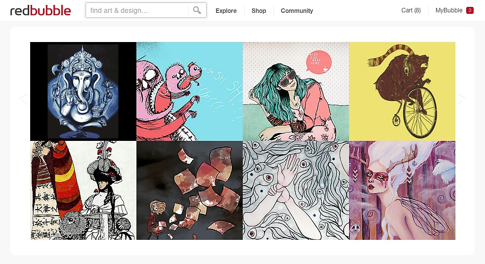 Homepage June 14, 2012 by The RedBubble Homepage