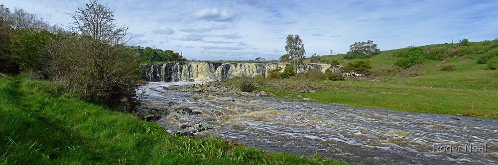 Hopkins Falls panorama view #3 by Roger Neal