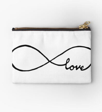 Pretty Infinity sign love Zipper Pouch