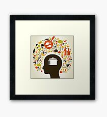 Head food5 Framed Print