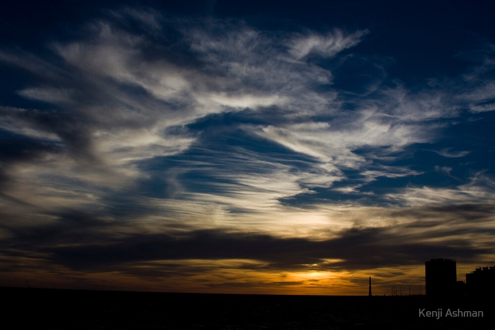 Sunset over Montevideo by Kenji Ashman